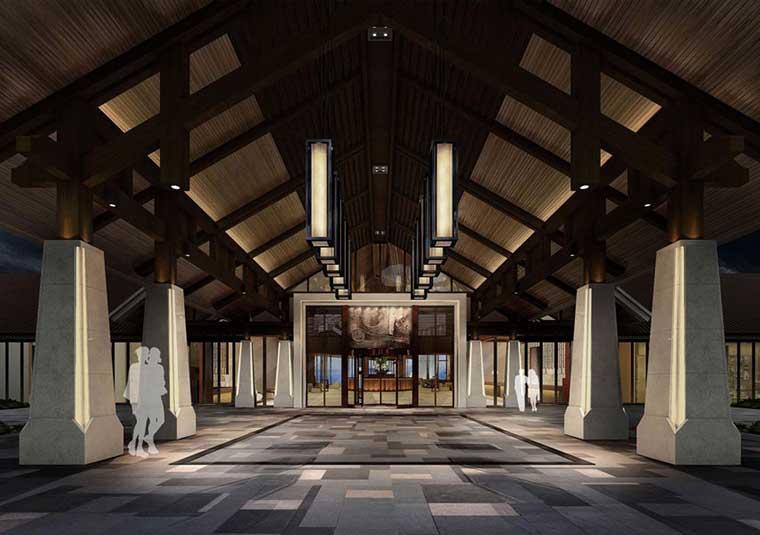 重庆颐湖度假酒店设计效果图